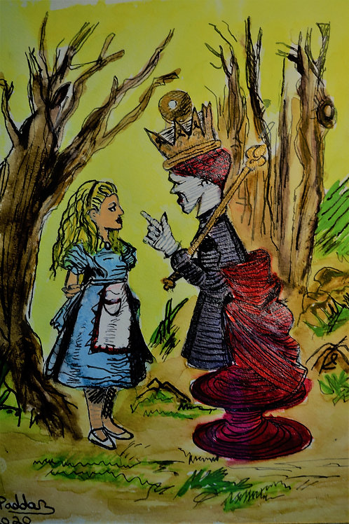 Red Queen Scolding Alice