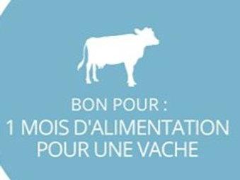 1 mois de nourriture pour vaches