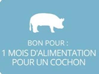 1 mois de nourriture pour cochon