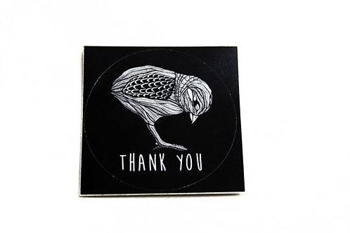 Autocollant Thank You
