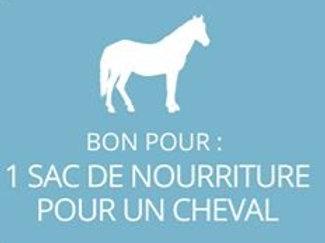 1 sac de nourriture pour cheval