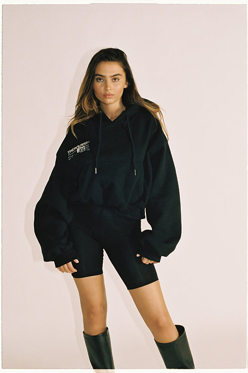 DREAMERS CLUB OVERSIZED CROPPED HOODIE