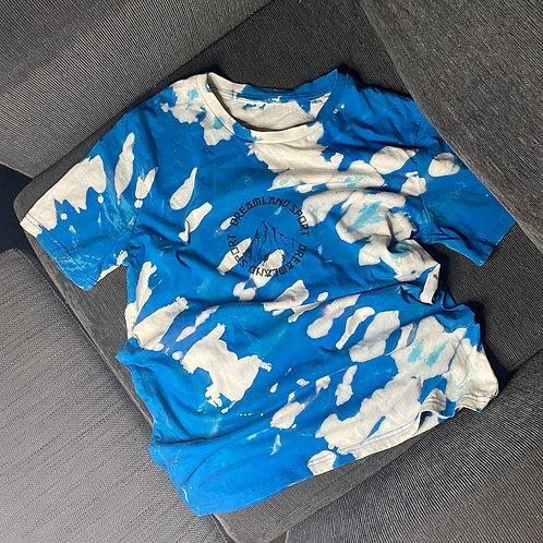Bleach dyed logo t-shirt