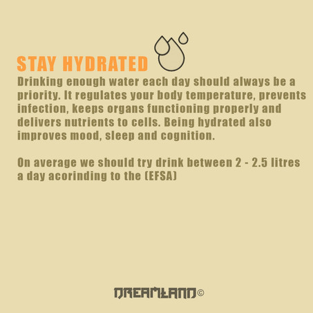 The importance of water intake.