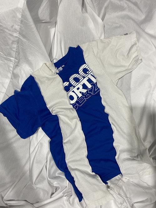 Bluuu graphic re work t shirt