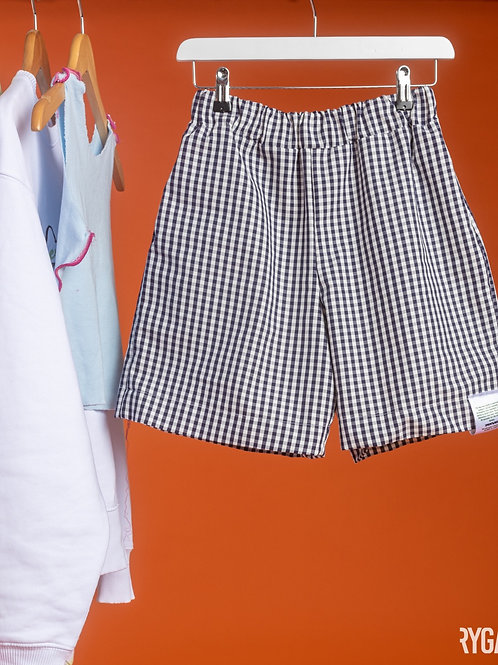 Gingham cotton shorts