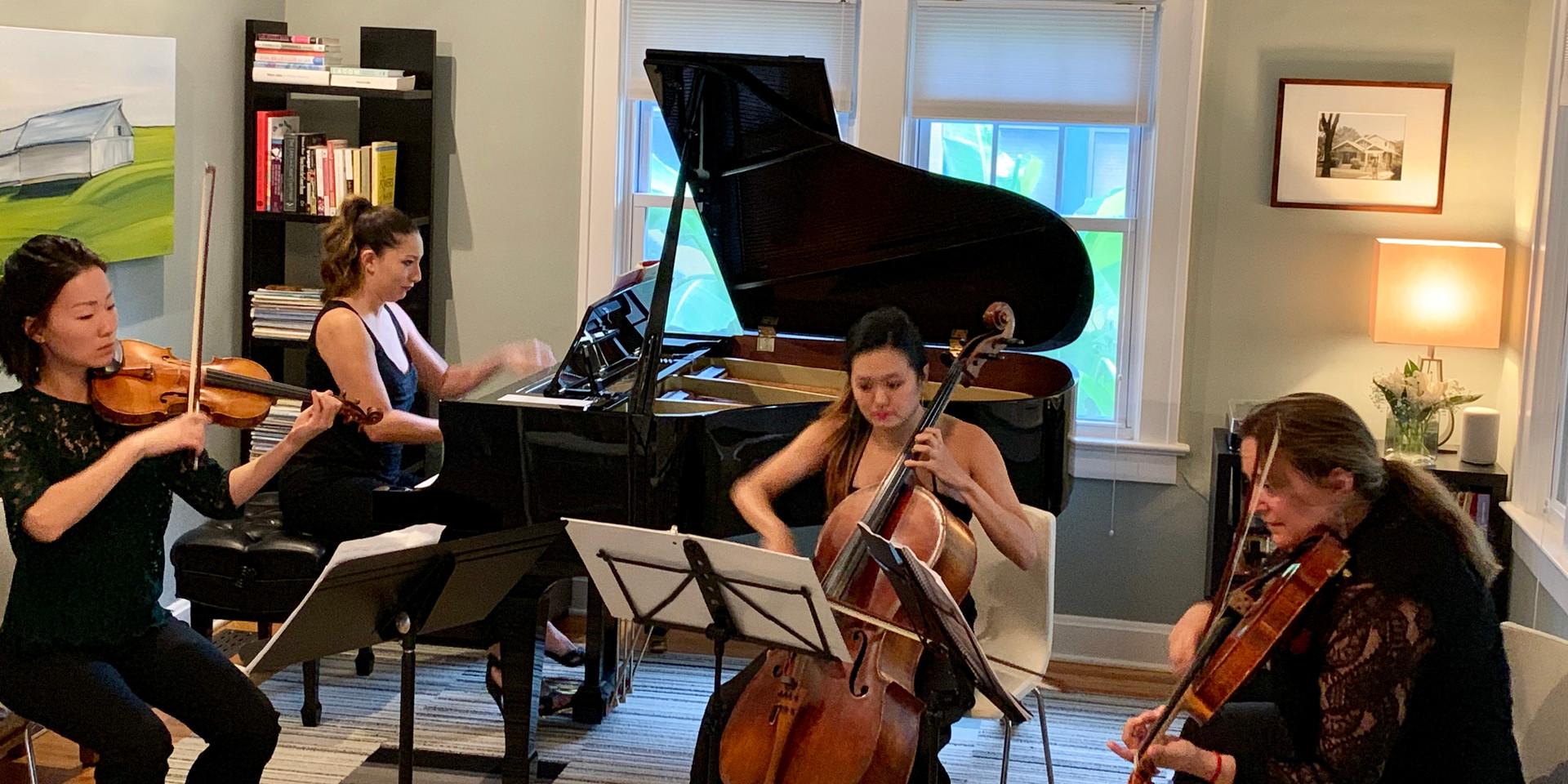 Kansas City Symphony musicians perform a piano quartet