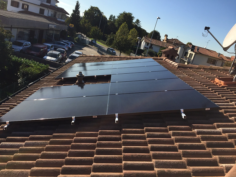 impianto fotovoltaico Sunpower a Bergamo