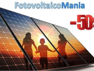 Fotovoltaico con sconto in fattura -50% entro il 31/12/2021