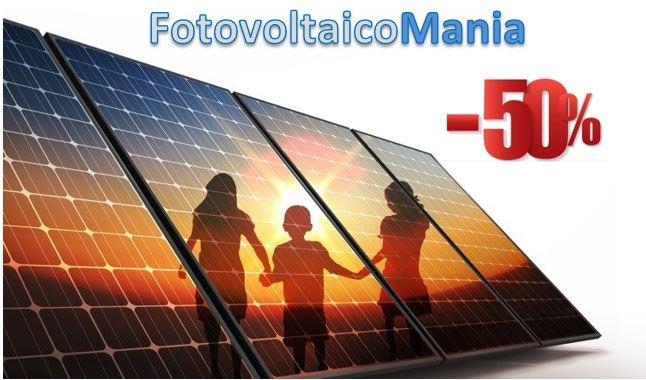 Fotovoltaico con sconto in fattura