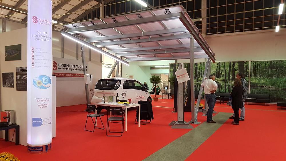 Pensilina Solarparking alla Fiera Arte Casa Lugano