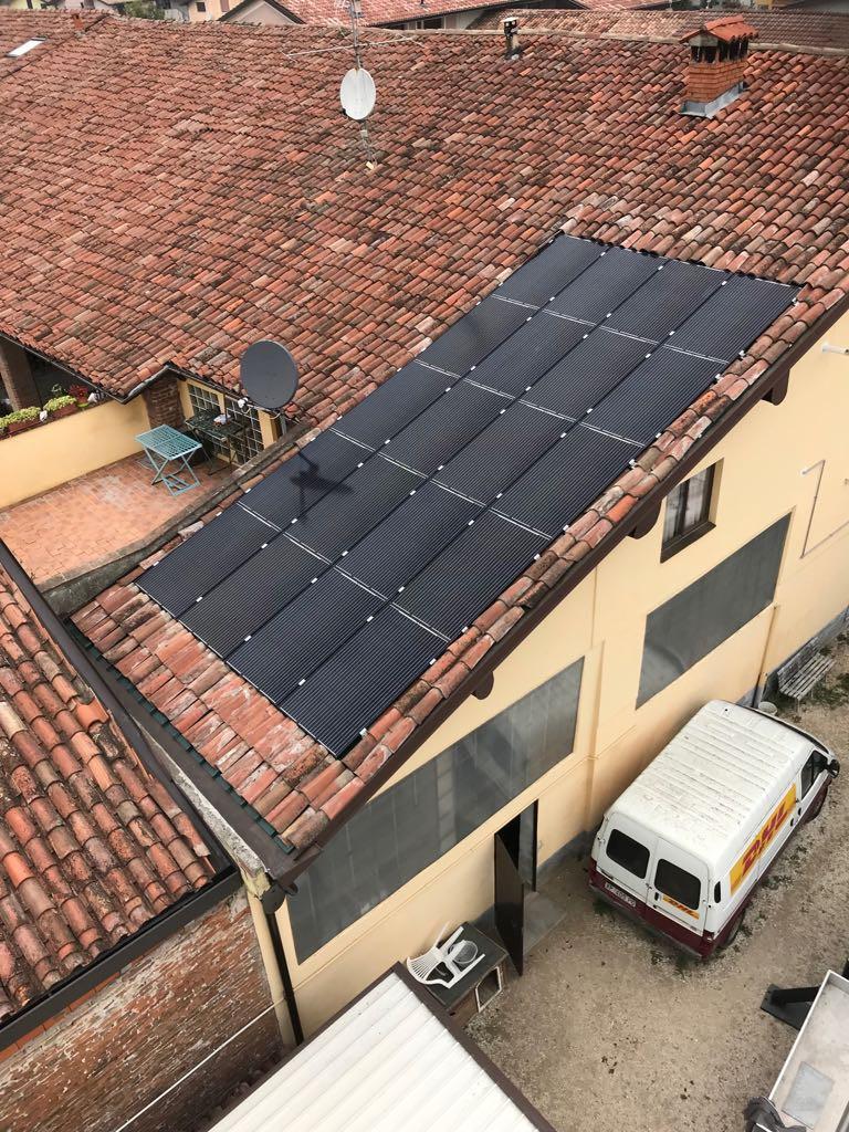 Impianto fotovoltaico monocristallino a Brandico-Brescia