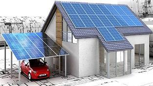casa fotovoltaica rendering