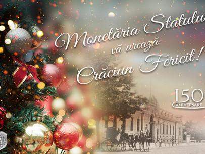 Regia Autonomă MONETĂRIA STATULUI vă urează Crăciun Fericit!