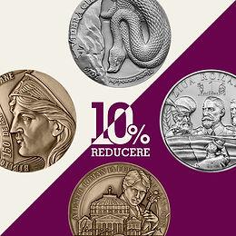 Reducere 10% - produse medalistice aferente anilor 2017, 2018 și 2019