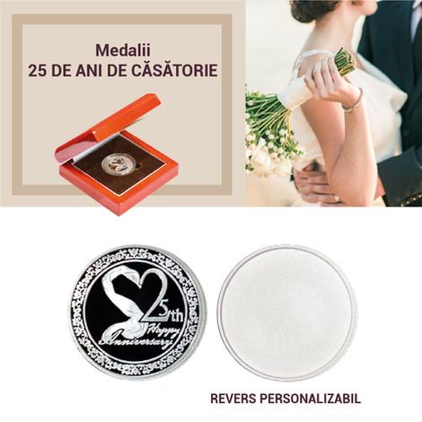 """Medalii """"25 de ani de căsătorie"""""""