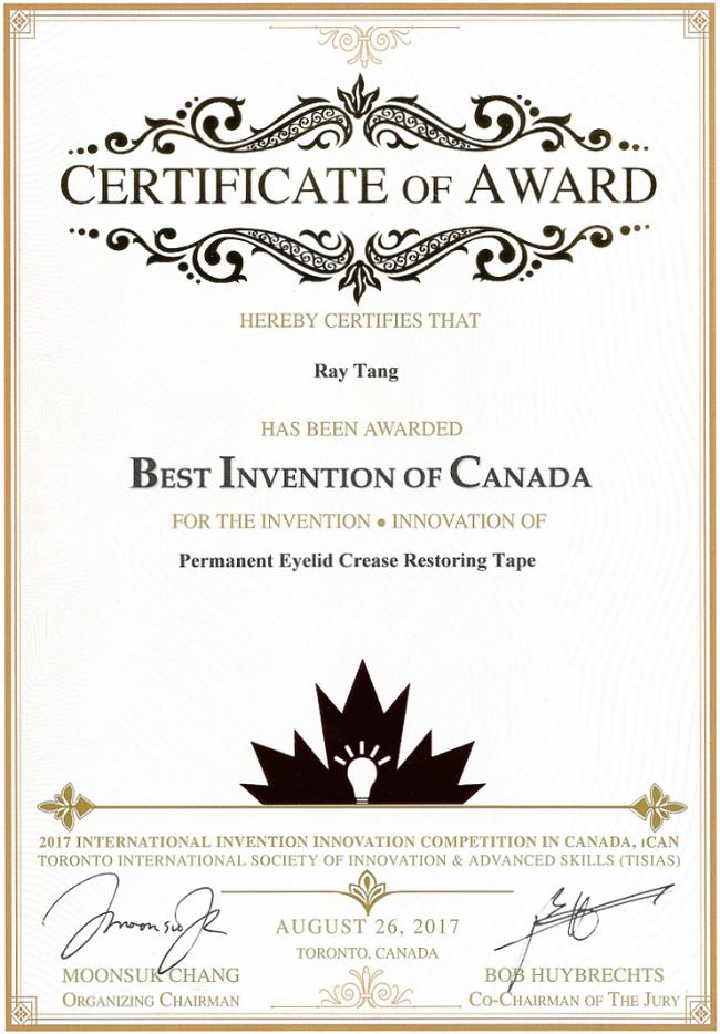 The beautiful certificate