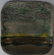 cloud stamp landscape 9x9+ platter DSC03