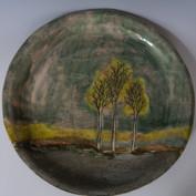 tree landscape plate