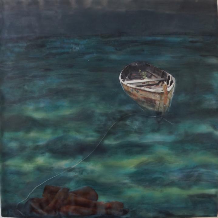 anchored beneath