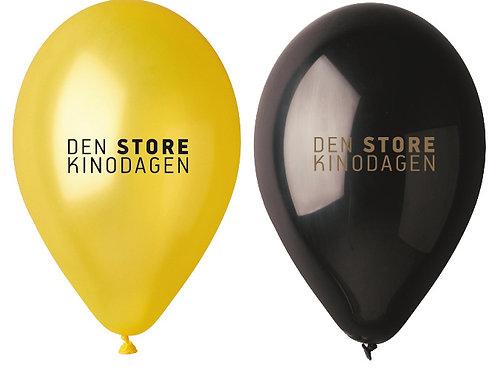 Ballonger - leveres i pakker med 50 stk.gule og sorte (25/25)