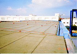 Oprava střechy skladu U Rakovky