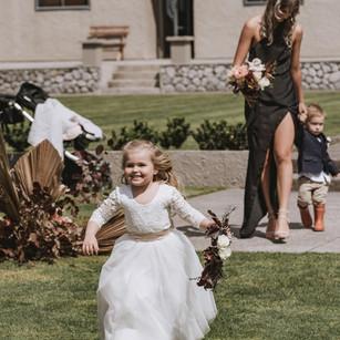wedding ceremony flowergirl