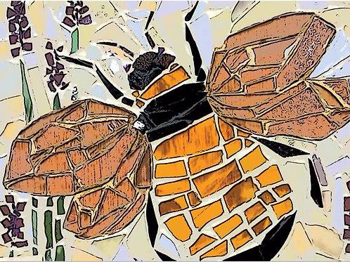 Bee Mosiac Greeting Card