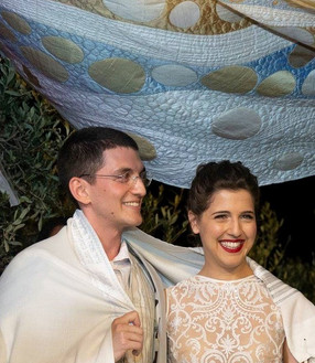 Reut and Shaul under the huppah