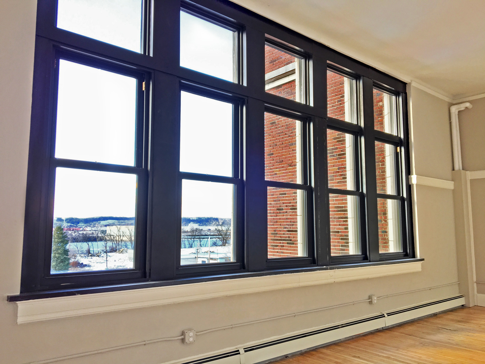 school one apartment windows