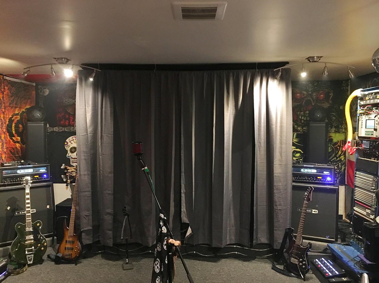 Drum Curtain closed