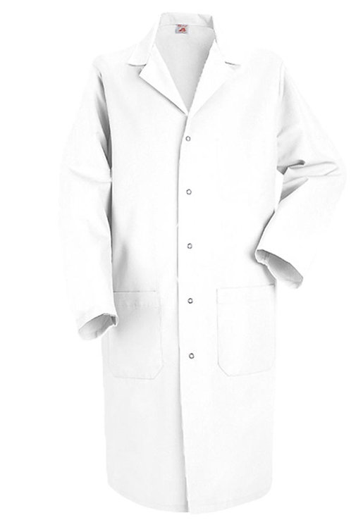 Classic Lab Coat with Metal Snaps