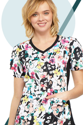Contrast Panel Scrub Top