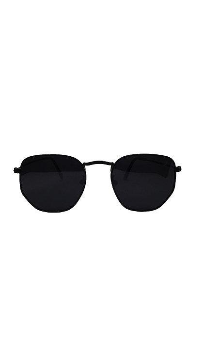 Óculos hexagonal - All Black - Minsk