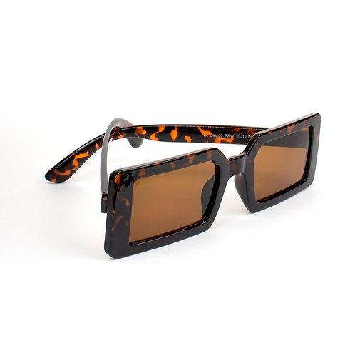 Óculos retangular - Oncinha