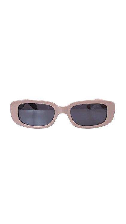 Óculos retangular - Cinza - Havana