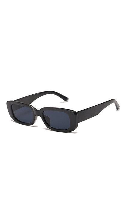 Óculos retangular - Preto - Havana