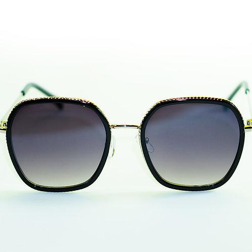 Óculos de Sol - Coleção Mônaco (Preto e Prata)