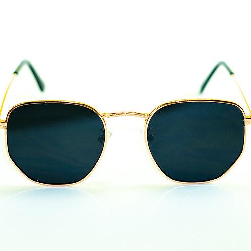 Óculos de Sol - Coleção Minsk (Preto com Dourado)