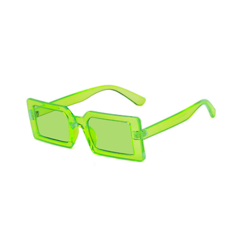 Óculos retangular - Verde Neon - Coleção Kingston