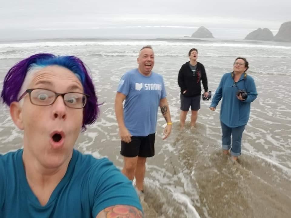 Kim Labora Beach With Friends