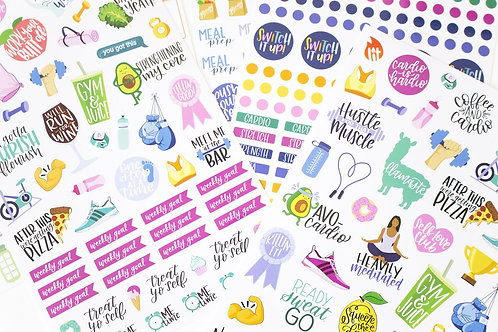 Fitness & Healthy Living Stickers