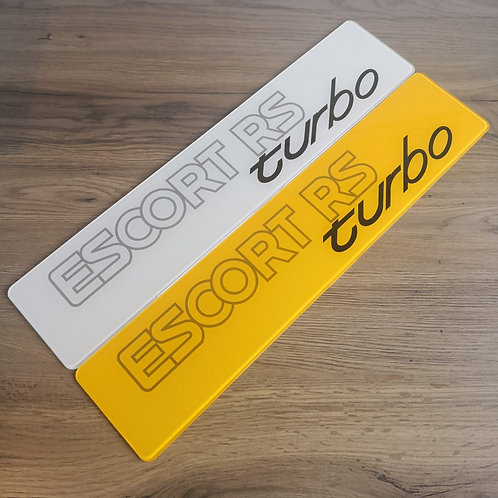 Escort RS Turbo Series 2 Dealership Style Show Plates