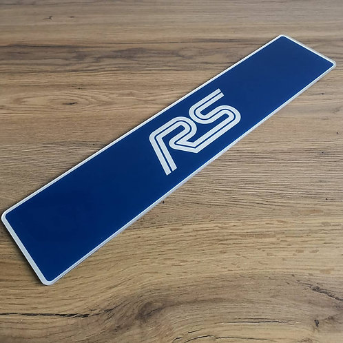 Focus RS Mark 1 Blue Show Plate