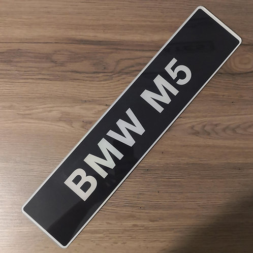 BMW M5 Dealership Style Show Plate