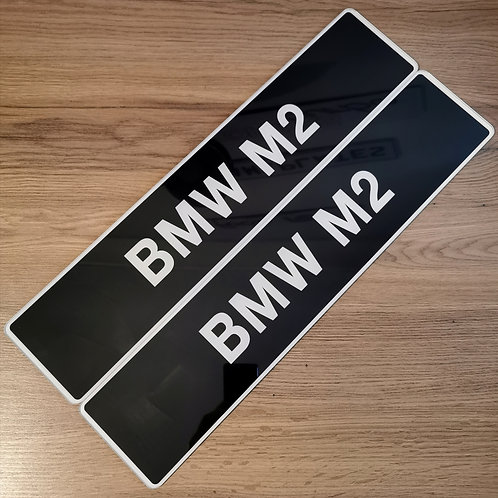 Pair Of BMW M2 Show Plates