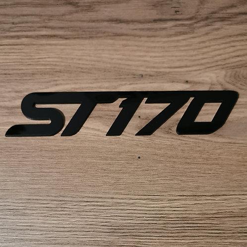 Ford Focus ST170 Acrylic Cut Boot Badge.
