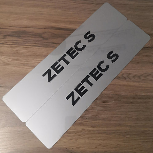 Fiesta / Focus / Mondeo Zetec S Dealership Style Show Plates