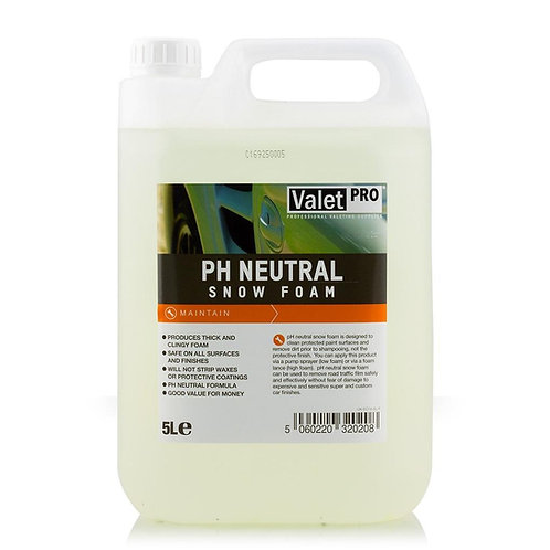 Valet Pro PH Neutral Snow Foam 5 Litre