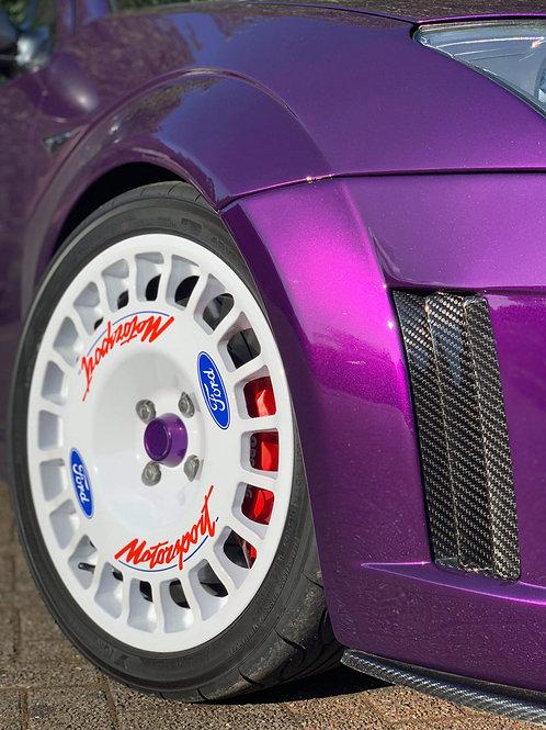 """18"""" Compomotive Ford Motorsport Decal Set"""